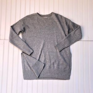 Loft Soft Gray Cotton pullover Sweater